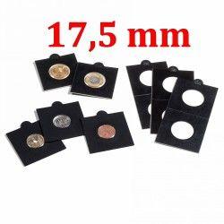 Etui numismatique noir Matrix pour monnaies jusqu'à 17,5 mm.