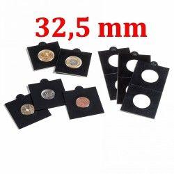 Etui numismatique noir Matrix pour monnaies jusqu'à 32,5 mm.