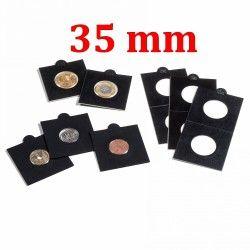 Etui numismatique noir Matrix pour monnaies jusqu'à 35 mm.