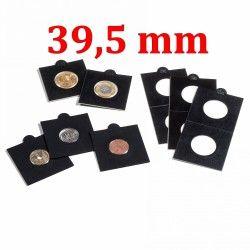 Etui numismatique noir Matrix pour monnaies jusqu'à 39,5 mm.