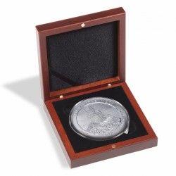 Écrin numismatique Volterra pour 1 monnaie jusqu'à 76mm.