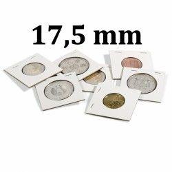 Etui carton à agrafer pour monnaies jusqu'à 17,5 mm.