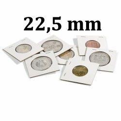 Etui carton à agrafer pour monnaies jusqu'à 22,5 mm.