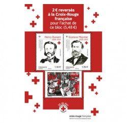 """Bloc-feuillet de 3 timbres """"Croix-Rouge Française"""" 2020 neuf** SUP."""