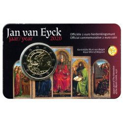 2 euros Belgique 2020 coincard version flamand -  JAN VAN EYCK.