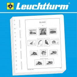 Feuilles pré imprimées Leuchtturm Islande 2000-2009.