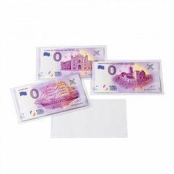 """Pochettes de protection en PVC pour billets """"Euro Souvenir""""."""