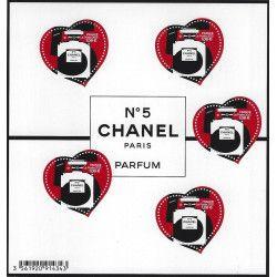 Bloc-feuillet Cœur Chanel N°5 neuf** SUP.