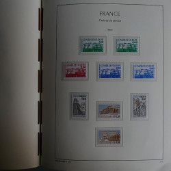 Collection de timbres de France neufs 1980-1991 complet dans album lux, SUP.