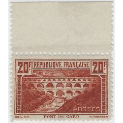 Pont du Gard timbre de France N°262B Bdf neuf** SUP. R