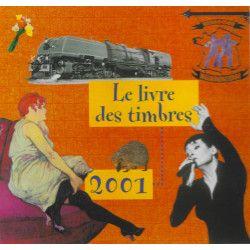 Livre des timbres de France de l'année 2001.