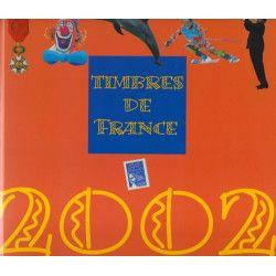 Livre des timbres de France de l'année 2002.