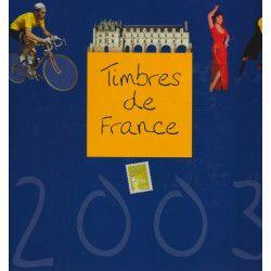 Livre des timbres de France de l'année 2003.