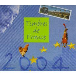 Livre des timbres de France de l'année 2004.