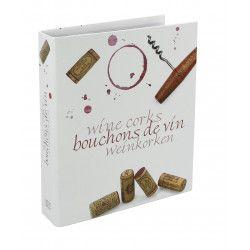 Album illustré pour collectionner bouchons de vin.