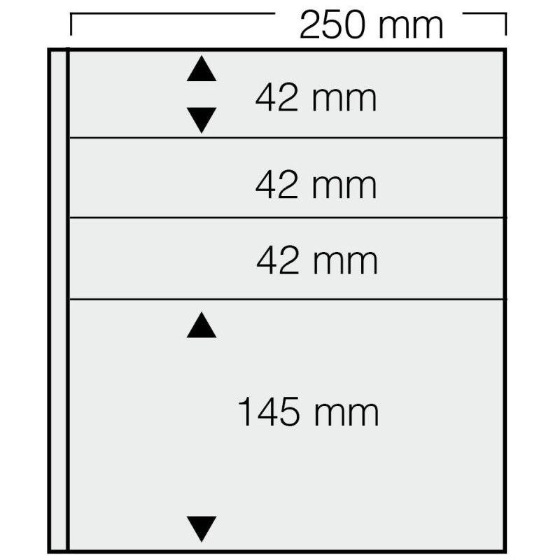 Feuilles Garant Safe à 4 bandes pour timbres, blocs.