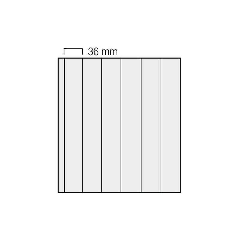 Feuilles Garant Safe à 6 bandes verticales pour roulettes de timbres.