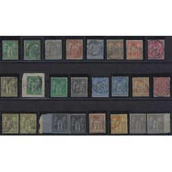 Type Sage lot de timbres classiques 1876-1880, TBE.