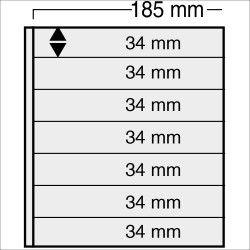 Feuilles Variant noires à 7 bandes pour timbres-poste.