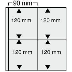 Feuilles Variant noires à 4 poches pour blocs de timbres.