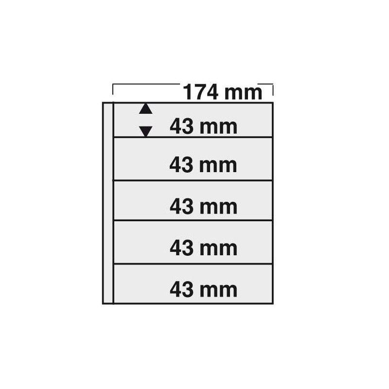 Feuilles Compact Safe à 5 bandes pour timbres-poste.