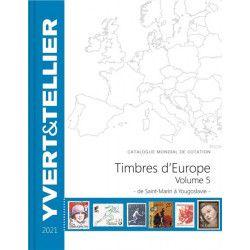 Catalogue de cotation Yvert timbres d'Europe volume 5 - Saint Marin à Yougoslavie.