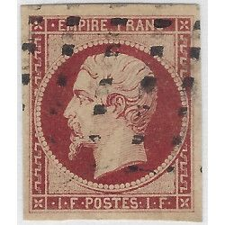 Empire non dentelé timbre de France N° 18 a oblitéré, SUP.R