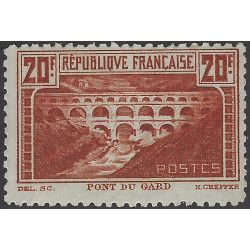 Pont du Gard timbre de France N°262B neuf** SUP. R
