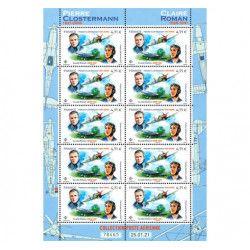 """Feuillet de 10 timbres Poste aérienne """"Clostermann"""" neuf** SUP."""