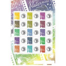 Feuillet de timbres personnalisés Marianne - Cérès F3688B neuf** SUP.