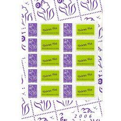 Feuillet de 10 timbres personnalisés Marianne de Lamouche F3916A neuf** SUP.