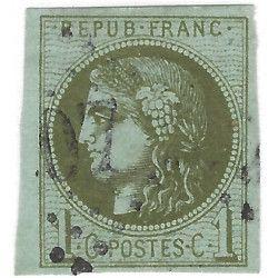 Bordeaux timbre de France N° 39Cc oblitéré SUP.