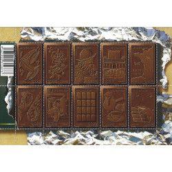 Feuillet de 10 timbres Chocolat F4357 neuf** SUP.