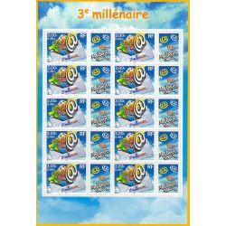 Feuillet de 10 timbres 3e millénaire F3365 neuf** SUP.
