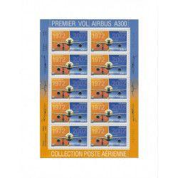 """Feuillet de timbres poste aérienne """"Airbus A300"""" neuf** SUP."""