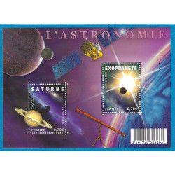 Feuillet de 2 timbres Astronomie - Europa F4353 neuf** SUP.