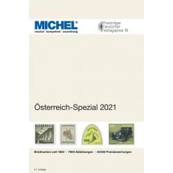 Catalogue de cotation Michel timbres d'Autriche spécialisé 2021.