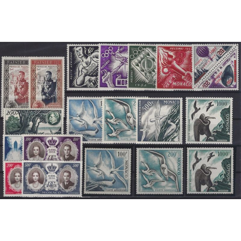 Monaco timbres poste aérienne N°49-68 neuf** SUP.