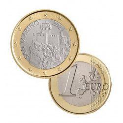 1 euro commémorative Saint Marin 2021 - La tour Cesta.