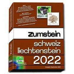 Catalogue de cotation Zumstein timbres de Suisse-Liechtenstein 2022.