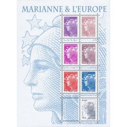 Feuillet de timbres Marianne & L'Europe F4614 neuf** SUP.