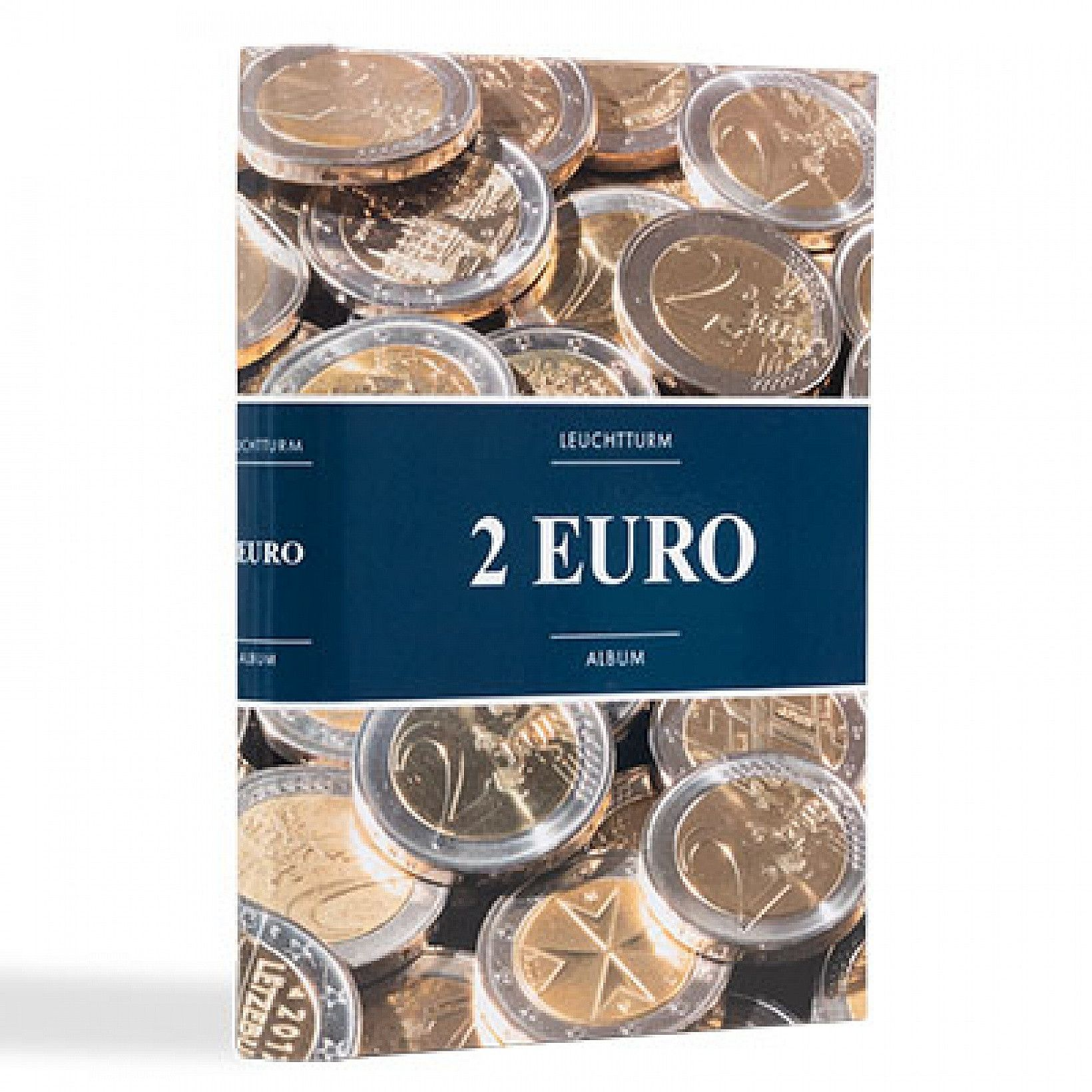 Album illustré spécial monnaies 2 euros commémoratives.