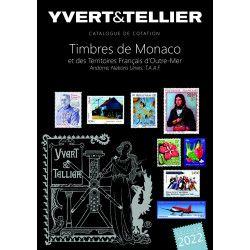 Catalogue de cotation timbres de Monaco et Tom 2022 Yvert et Tellier.