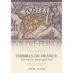 Catalogue de cotation Maury timbres de France 2022.