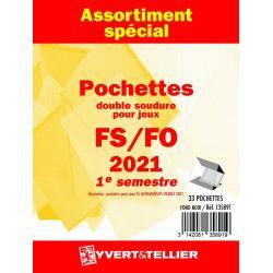Assortiment de pochettes pour jeux FO/FS France 2021 premier semestre.