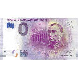 Billet Euro souvenir Ankara - Mustafa Kemal Atatürk 2019 neuf SUP.