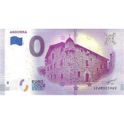 Billet Euro souvenir Andorre 2018 neuf SUP.