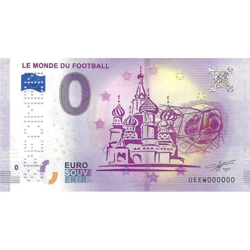 Billet Euro souvenir Le monde du Football spécimen 2018 neuf SUP.