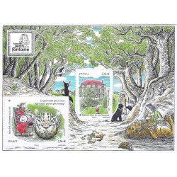 Bloc de 2 timbres Jean de La Fontaine 2021 neuf** SUP.