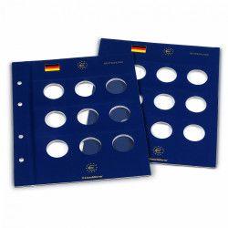 Feuilles numismatiques Vista pour pièces commémoratives allemandes 10-20-25 euros.